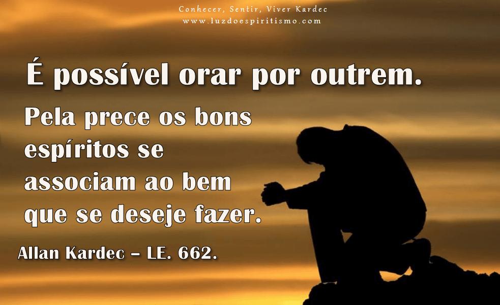 É possível orar por outrem