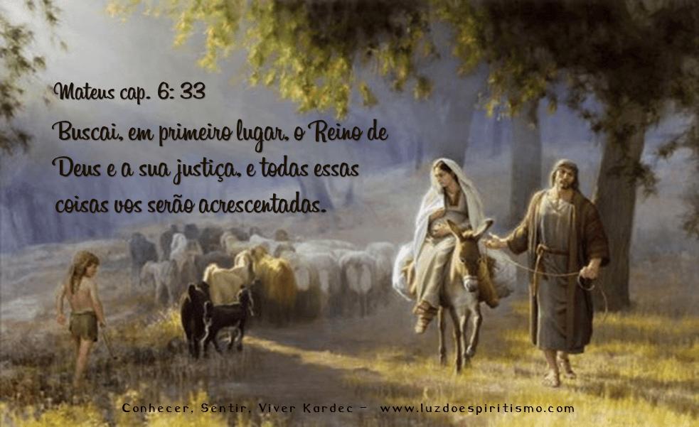 o Reino de Deus e a sua justiça