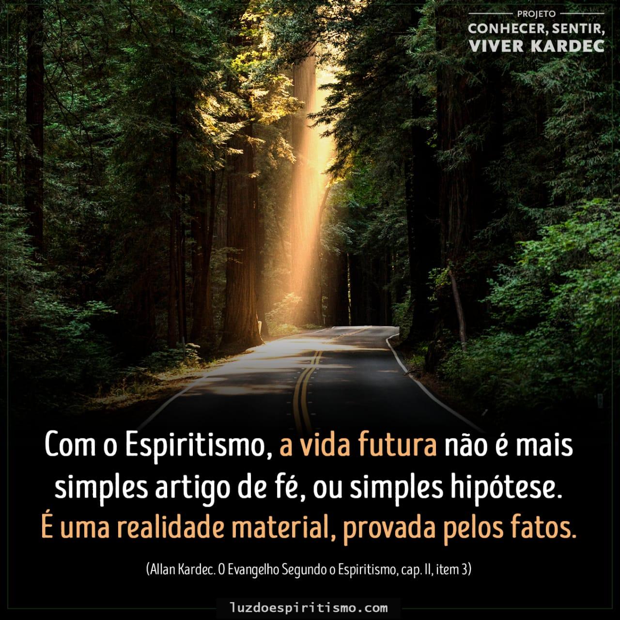 Citação de imagem: a vida futura - Projeto Conhecer, Sentir, Viver Kardec
